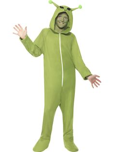 You can buy a Alien Costume for Halloween parties from the Halloween Spot. Dress like an alien in costume parties with this green all in one hooded costume. Alien Fancy Dress, Boys Fancy Dress, Halloween Fancy Dress, Halloween Fun, Onesie Costumes, Boy Costumes, Children Costumes, Alien Halloween Costume, Costume Shop