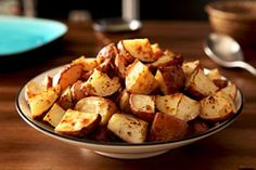 Red potato chunks are tossed with a mixture of Dijon mustard, Italian dressing, garlic and Italian seasoning, then roasted for an easy and delicious side dish.