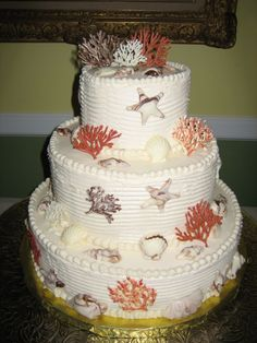 Coral Sea Shell Wedding Cake — 2006 Wedding Cake Contest