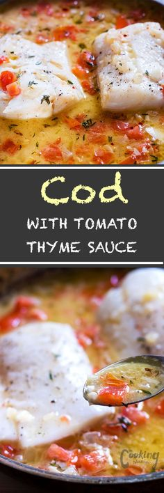 This steamed cod with tomato thyme sauce is the perfect dish year round.the cod…