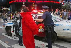 Elmo loses his head and gets arrested.