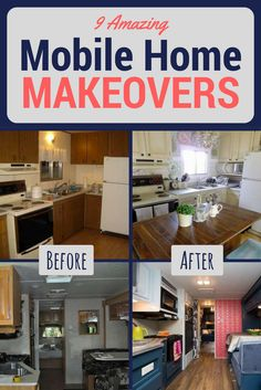 Mobile homes have always been an affordable housing alternative, even if manufactured housing hasn't been considered on the high end of design. But these homeowners remodeled and restyled their mobile homes in some stunning makeovers that will make you look twice at manufactured homes. These 9 before and after mobile home remodels will inspire you with design ideas no matter what the size and style of your own home.
