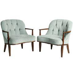 "1stdibs | Pair of Edward Wormley for Dunbar ""Janus"" Chairs"