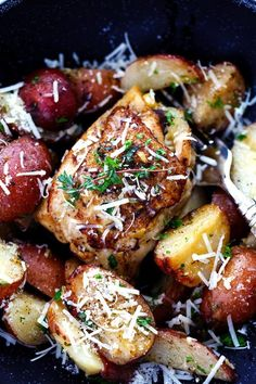 Slow Cooker Parmesan Garlic Herb Chicken and Potatoes 4
