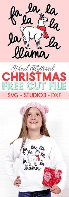 christmas llama free cut file - use with your silhouette or cricut