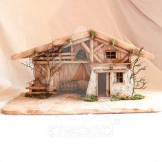 Dřevěný betlém - bez figurek