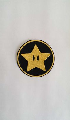 Super Mario Power Star Embroidery Patch by LittleBearsPatches