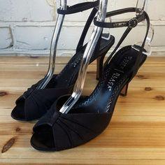 WHITE HOUSE BLACK MARKET Women's Shoes ~ Black Strappy Peep Toe Pumps ~ US 8 M #WhiteHouseBlackMarket #PumpsClassics