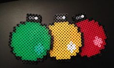 Christmas baubles coasters hama perler beads
