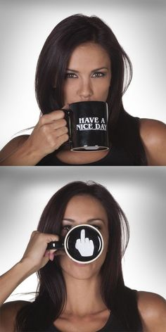 Have a Nice Day Coffee Mug Middle Finger