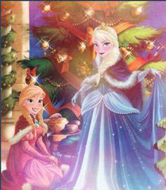 Frozen Christmas - Princess Anna and Queen Elsa Jelsa, Frozen Christmas, Disney Christmas, Merry Christmas, Frozen Art, Disney Frozen, Frozen Stuff, Frozen 2013, Snow Queen