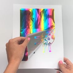 Learn how easy it is to make your own foil art prints and the exact supplies you need. The post DIY Foil Art Prints appeared first on Easy Crafts. Diy Craft Projects, Fun Diy Crafts, Diy Arts And Crafts, Creative Crafts, Art Projects For Teens, Diy Creative Ideas, Diy Summer Projects, Simple Art Projects, Recycled Cd Crafts