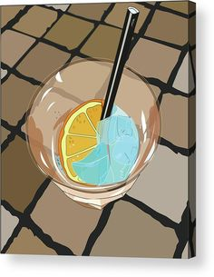 Cocktail Spritz Acrylic Print by Marina Usmanskaya for home decor.   All acrylic prints are professionally printed, packaged, and shipped within 3 - 4 business days and delivered ready-to-hang on your wall. Choose from multiple sizes and mounting options. Traditional italian cocktail Spritz on the ceramic table.