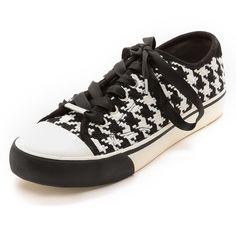 Dkny Barbara Houndstooth Sneakers - Black/White