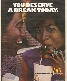 Company Name: McDonald's Ad Campaign Name: You deserve a break today Year Created: 1971 Ad Agency: Needham, Harper & Steers Viral Advertising, School Advertising, Print Advertising, Print Ads, Ad Of The World, Old Advertisements, Best Ads, Old Ads, The Good Old Days