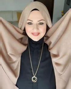 Pashmina Hijab Tutorial, Turban Tutorial, Hijab Style Tutorial, Hijab Turban Style, Hijab Style Dress, Bridal Hijab, Hijab Wedding Dresses, Hijab Bride, Stylish Hijab