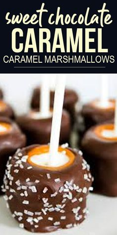 ★★★★ 4/5. Chocolate Caramel Marshmallows are a delicious treat, especially when sprinkled with chocolate sea salt! #dessertideas #dessertrecipes #easydessertrecipes #simpledessertrecipes #snackrecipes #easysnackrecipes #simplesnackrecipes #holidayrecipes #chocolate #caramel #marshmallows