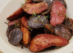 roasted fingerling potatoes recipe with rosemary and black truffle salt