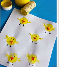 Drink up a bottle of wine so your kiddos can make these adorable wine cork chicks for an Easter craft! decorating bathroom Wine Cork Chicks Craft for Kids - Crafty Morning Family Crafts, Easter Crafts For Kids, Diy Home Crafts, Toddler Crafts, Crafts To Do, Diy For Kids, Children Crafts, Art Children, Egg Crafts