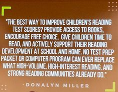 Improve reading and test scores? Choice and pleasure reading! - Donalyn Miller