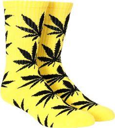 HUF Plantlife Crew Sock - yellow