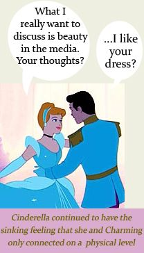 Cinderella continued to have the sinking feeling that she and Charming only connected on a physical level. #FemDisney