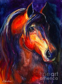 Soulful horse painting by Svetlana Novikova, www.SvetlanaNovikova.com  Art prints starting at $27