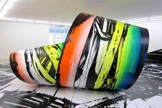 Judy Millar, 'The Rainbow Loop' Maori Art, Art Object, New Zealand, Street Art, Objects, Rainbow, Abstract, Gallery, Artists