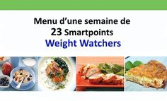 menu of 23 Weight Watchers Smartpoints, a menu tailored to the . Menu Weight Watchers, Weight Watchers Smart Points, 300 Workout, Menu Ww, Sport Diet, Menu Dieta, Batch Cooking, Nutrition Guide, Cooking Light
