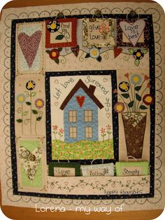 Happy Thought Pocket Quilt. I love it !!!