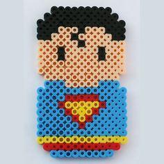Perler Bead JLA Chibi Bean Superman by LunasRealm, Bügelperlen