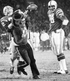 "Mad Dog Mike Curtis ""Escorts"" An Unruly Spectator From The Field As Bubba Smith Looks On Football Photos, Sport Football, Football Fans, Football Players, Football Helmets, School Football, Baltimore Colts, Indianapolis Colts, Sports Images"