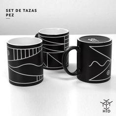 Si no te gusta el café seguro buscarás cualquier otra bebida para disfrutar de estas tasas! Set de 3 tazas Pez diseño de @maliarts_net