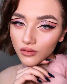 Pretty Makeup, Love Makeup, Makeup Inspo, Makeup Looks, Hair Makeup, Indie Makeup, Eye Makeup Steps, About Hair, Hairstyles Haircuts