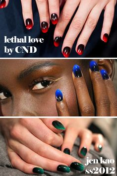 DIY ombre nails with kitchen sponge