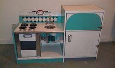 Retro play kitchen by danadog1969 on Etsy, $275.00
