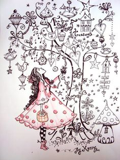I like this page. A drawing of your Self looking up into a tree full of things that you love.