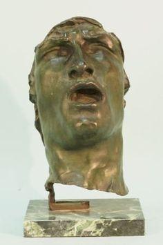 Rodin Mask Of Sorrow Bronze Sculpture