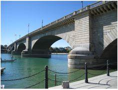 The Old London Bridge was moved to Havasu Lake, Arirona United States in 1968