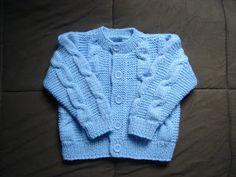 .........Oficina da Regina.......: Casaco de tricô para crianças de 3 anos