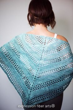 Crochet Granny Squares Design Teal Tenacity Crochet Shawl Pattern - A Positive Twist on Yarn Crochet 101, Crochet For Beginners, Crochet Gifts, Crochet Yarn, Free Crochet, Crotchet, Crochet Ideas, Crochet Shawls And Wraps, Crochet Scarves