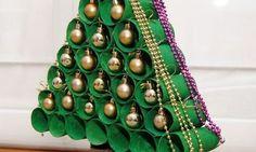 Como Fazer uma Árvore de Natal de Rolo de Papel Higiênico | Reciclagem no Meio Ambiente