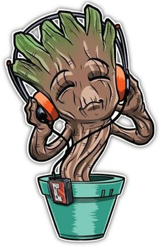 Chibi Groovin Baby Groot by Lord Mesa Marvel Avengers, Chibi Marvel, Marvel Dc Comics, Marvel Heroes, Lord Mesa Art, Gardians Of The Galaxy, Marvel Drawings, Dancing Baby, Marvel Tattoos