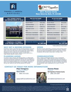 Do you have an open house this weekend and need a quick flyer with the mortgage breakdown and possibilities? I can help! Contact me today at 904-928-0113 to get your own personalized flyers for your open houses & new listings! Buyers LOVE these!  Another good hint - stick them on your local bulletin boards! If I get any leads from your flyer, I'll be sure to make sure you're the go-to Realtor!