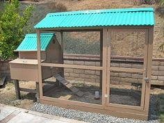 Caption: ...To a shot of their own, home-made coop which they designed themselves....
