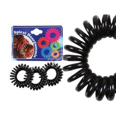 Spiral-Haargummi schwarz aus Großhandel und Import