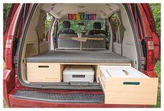 Minivan Camper Conversion, Suv Camper, Mini Camper, Camper Van Conversion Diy, Camper Life, Dodge Caravan Minivan, Campervan Conversion Kits, Grand Caravan, Autos Toyota