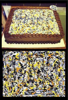 Jackson Pollock Cake