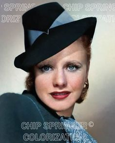 5 DAYS! 8X10 GINGER ROGERS WEARING BLUE BANDED HAT COLOR PHOTO BY CHIP SPRINGER. Please visit my Ebay Store at http://stores.ebay.com/x5dr/_i.html?rt=nc&LH_BIN=1 to see the current listings of your favorite Stars now in glorious color! Message me if you would like me to relist your favorites.
