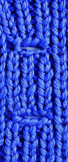 Kara's Quick-Knit Tip: Buttonholes Nice